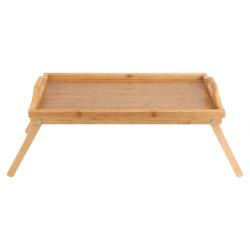 Le BAMBOU Petit-déjeuner plateau lit lap desk desservant les jambes de bois plateau table pliable dîner alimentaire BT-2100