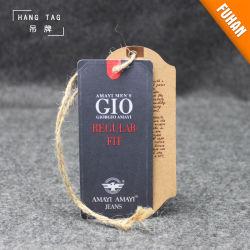 Настраиваемые джинсы крафт-бумаги Hangtag швейной бумаги метка поворотного механизма