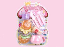 Brinquedos do alimento do brinquedo bonito do Hamburger mini com cutelaria