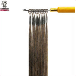 絹のまっすぐで自然で長い24inch Remyの人間のバージンの毛の拡張マイクロリングの毛