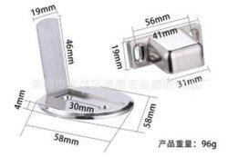 Tope de puerta de aleación de zinc pulido la prevención de las puertas de golpear las paredes