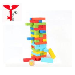 Costruzione di legno educativa del giocattolo della costruzione che impila i giocattoli impostati blocchi per i capretti