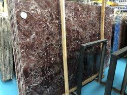 Rosso Levanto pulidas losas de mármol rojo violáceo muy buen precio mejor para el revestimiento de suelo de pared