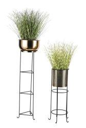Stand de plantas de interior/exterior Flores titular de la olla de hierro