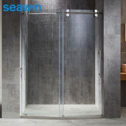 El lujo de 8 mm de forma redonda única puerta corrediza de vidrio Ducha