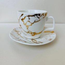 세라믹 에스프레소 커스텀 커피 컵 접시 세트 Fine Bone China