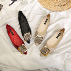 Nueva llegada solo mujeres zapatos de moda de primavera y otoño de 2020 cómoda suave fondo plano señoras de la zapata de zapatos con tamaño grande para la selección