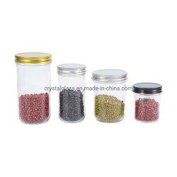 100ml-600ml 폭 입 유리제 저장 잼 꿀 뚜껑을%s 가진 통조림으로 만드는 캐비아 음식 식품 보존병