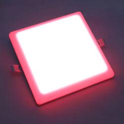 두 배 색깔 White+Pink 6W+3W에 의하여 중단되는 정연한 모양 천장 Panellight