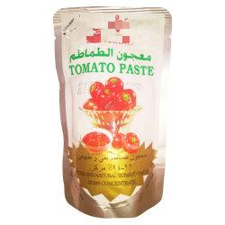 لون أحمر طازج 70 غ قماشة طماطم لصق كيس طماطم كتاتشاب عروس من 28 إلى 30% لأفريقيا