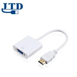 Высокое качество АБС Shell HDMI к VGA адаптер преобразователя