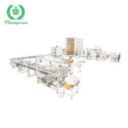 Laminação de colagem de cor automático toalha de papel de cozinha máquina de fazer do Rolo de linha de produção
