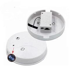 Detector de Fumaça Hidde Câmera com controle remoto 1080P Detector de Fumaça IP câmera de segurança (AVP010K)