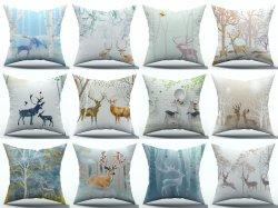 Estilo de decoração de Projeção de renas sofá de almofadas macias