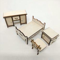 목재 공예 나무 돌l 하우스 장난감 가구 어린이 목재 블록 장난감 키트