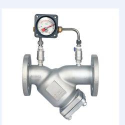 Extrémités de la bride en alliage aluminium Y Crépine avec jauge de pression différentielle pour le gaz/ Gaz combustible