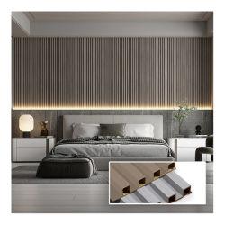 Innendekoration Flute/Welle/Streifen-TV-Hintergrund WPC-Wandpaneel-Hauptschlafzimmer Wohnzimmer Dekorative Wohnung Villa 170mm Wandbrett