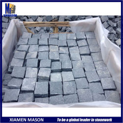 Commerce de gros G654 de la Chine Sett pavés de granit gris pierre de pavage de bloc pour le Park Hotel Parc de stationnement