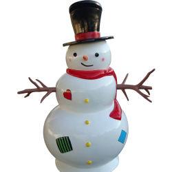 중국 대형 야외 유리섬유 크리스마스 스노맨 산타클로스 장식
