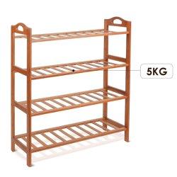 2-4 Tiers Bambus & Holz Aufbewahrungsständer Regal für Badezimmer, Blumen, Schuhe und Bücher etc., kann angepasst werden