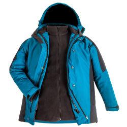 Design personalizado 3 em 1 casaco de inverno de Camisa de Desgaste de desportos de Forro de velo Vestuário impermeável