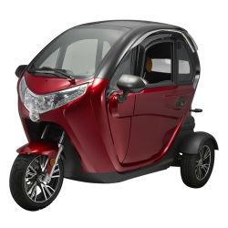 T414 закрытая кабина 3 Колеса электрический инвалидных колясках мобильности с 2 сиденьями