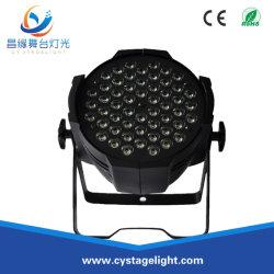54pcs*3W 3en1 LED RVB de laver par stade léger Effet Lumière
