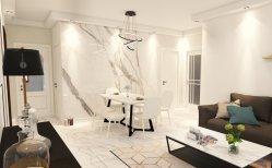 焼結させた石造りの背景の壁の装飾の家具表の表面の浴室の流しの台所カウンタートップの大きい石造りの平板
