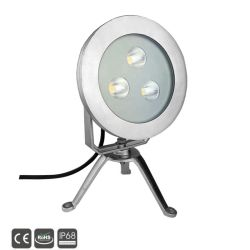 3X5W Projector LED IP68 Lâmpada de Luz subaquática
