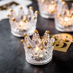 Os fabricantes de vidro cristal criativa personalidade Cinzeiro Mini artesanais Crown suporte para velas de vidro para decoração