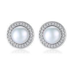 Conception simple tour de luxe Pearl Earrings