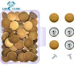 17mm Oro Mate Jeans Tachuela Botón Botones para la ropa