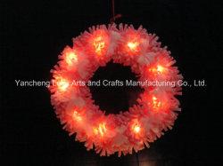 40cm Natal Artificiais Decoração de casamento dom Vermelha Coroa