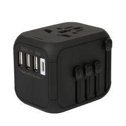 Usine d'origine Vente chaude fusible de récupération automatique 4 ports USB avec adaptateur de voyage mondial 5Un chargeur rapide pour les autres Consumer Electronics