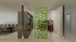 تصميم قسم الشاشة المصنوعة من ألياف البوليستر جدار التقسيم الزخرفي لقاعة المعيشة