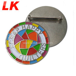 판매를 위한 긴 바늘 금속 접어젖힌 옷깃 Pin를 주문 설계하십시오