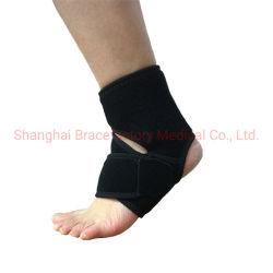 Abra o braço de suporte do tornozelo em neoprene tipo Wrap entorse no tornozelo para encaixe personalizado