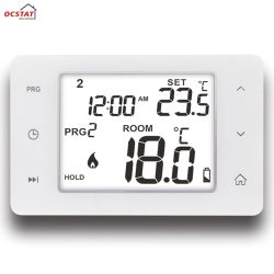 Retroiluminação branca grande visor LCD digital programável Sala de aquecimento do Termostato