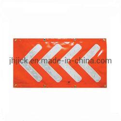 Van de LEIDENE van de Deklaag van pvc Banners van de Waarschuwing Flitser van het Verkeerslicht de Richting (pijl vier)