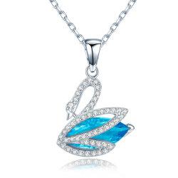 Nouveau Bleu Zirconia Cubique romantique 925 Sterling Silver Jewellery