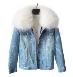 プライベートラベルの卸し売り女性のジーンのジャケット