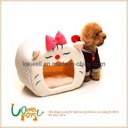 Los juguetes de peluche suave Peluche mascota de la casa de cama para mascotas