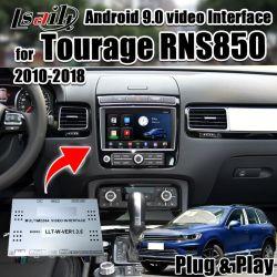 Lsailtのアンドロイド9.0のマルチメディア2010-2018年のTourage Rns850サポートのためのビデオインターフェイスボックスCarplayのAndrioidの自動車、Googleのマップ