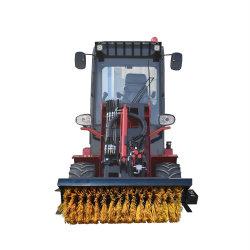 Moins cher 33HP Mini chargeuse à roues de la brosse de balayeuse de neige de la machine avec système de chauffage