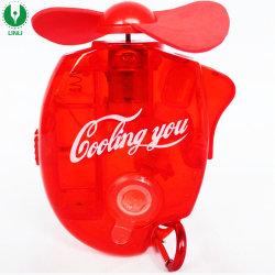 Mosquetón Llavero de pulverización de agua de refrigeración Mini Fan, ventilador de la niebla de bolsillo con Logo para promoción