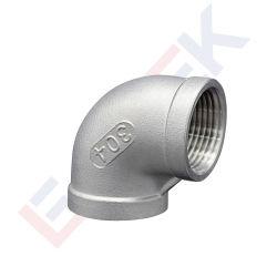 Les coudes de 90 degrés en acier inoxydable 150lb filetage BSP