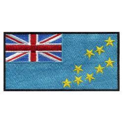 Erstklassiger Zoll gestickte Abzeichen-Tuvalu-Staatsflagge-Hut-Änderung am Objektprogramm für Polizei/Militär