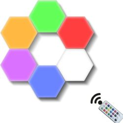 La lampada modulare esagonale sensibile alla luce del sensore DIY Quantum di notte di tocco con il LED magnetico illumina la decorazione creativa della novità