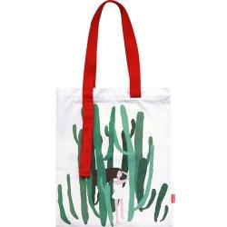 Impresión personalizada de algodón ecológico Compras Bolsa de lona plegable