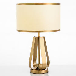 Jlt-16232 Американском стиле роскошь латунные Gold настольная лампа с барабана тени для гостиной спальни учебный класс